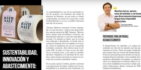 """AMF Etiquetas en la revista """"Impresiones"""" de Asimpres"""